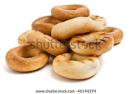 meal bread rings. - stock photo