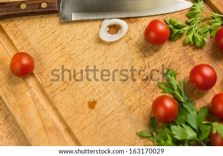 Meal preparation process - stock photo