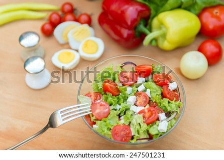 Meal salad - stock photo
