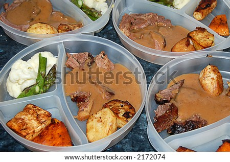 meals being prepared for caregiving staff at an Intellectually Handicapped hostel - stock photo