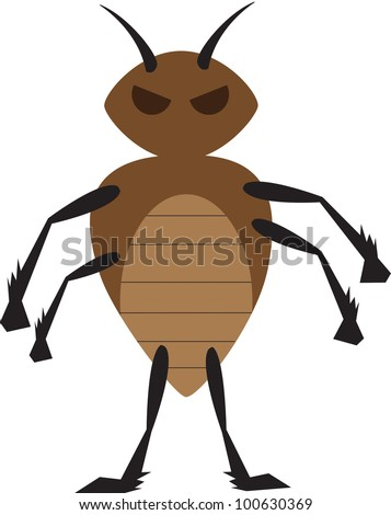 mean bed bug - stock photo