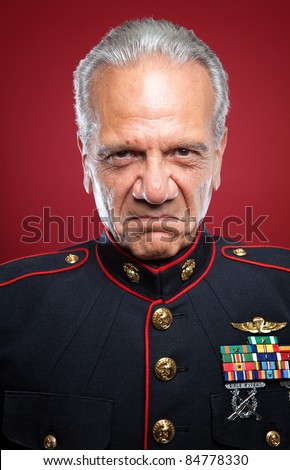 Mean Looking Marine - stock photo