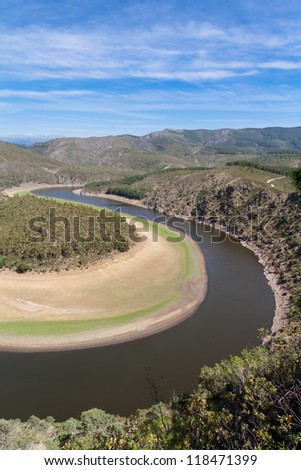 Meander of the Alag�³n River (known as Melero Meander) in Las Hurdes, Extremadura (Spain)