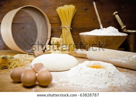 Means for making bread - stock photo