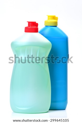Means for washing of ware - stock photo