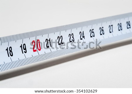 Measure close up - stock photo