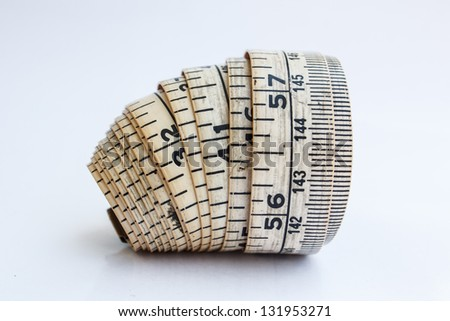 Measure line the size and more - stock photo