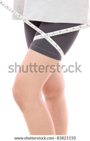 Measure major thigh - stock photo