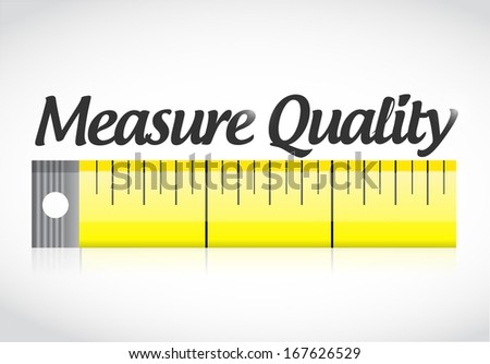 measure quality illustration design over a white background - stock photo
