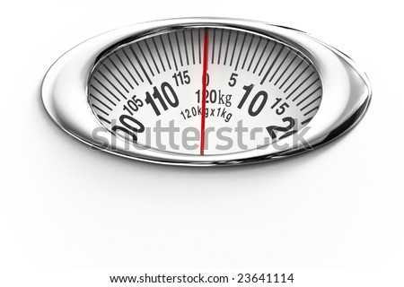Measure scale isolated on white - stock photo