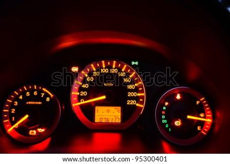Measure speed - stock photo
