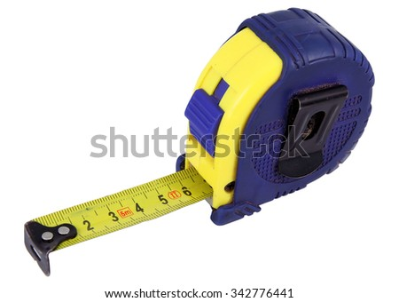 Measure tape. Home measure tape. Tape meter. - stock photo