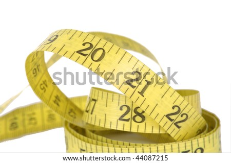 measure tape on white