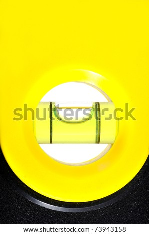 Measure the water level balance hand tool for construction - stock photo