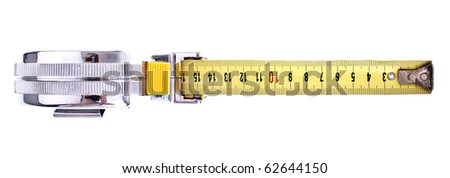 Measure Tool, completely isolated on white background - stock photo