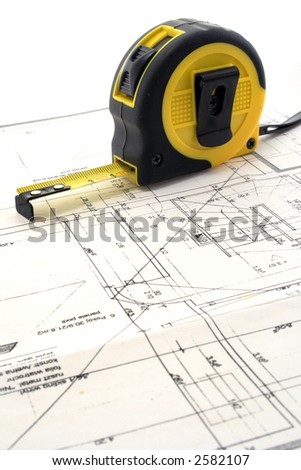 Measure tool on a blueprint