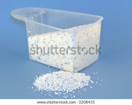 Measure with laundry powder - stock photo