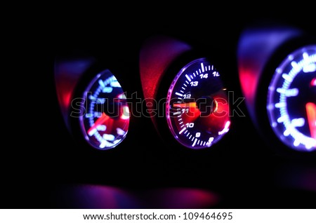 Measurement speed and Energy checking - stock photo