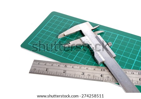 Measurement with vernier-caliper - stock photo
