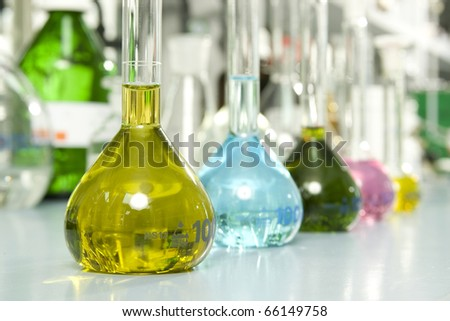 Measures in lab - stock photo
