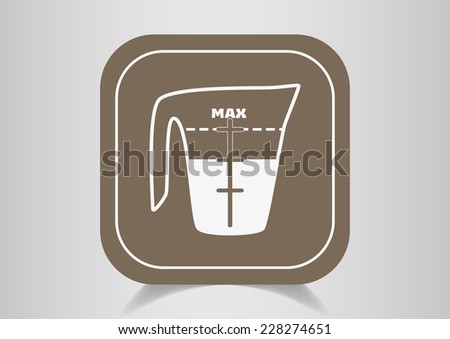 measuring cup  icon illustration - stock photo