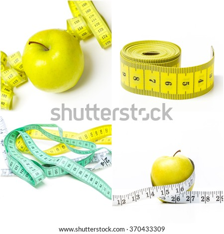 Measuring tape collage
