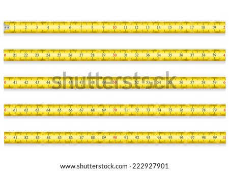 measuring tape for tool roulette illustration isolated on white background - stock photo