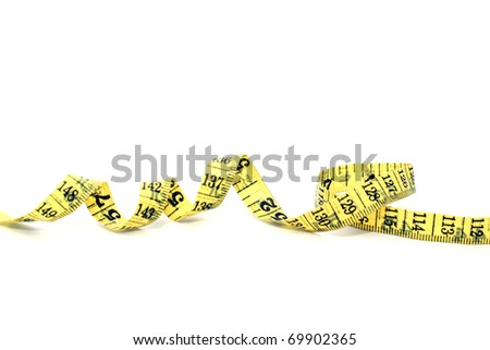 measuring tape,isolated on white - stock photo