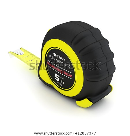 Measuring tape isolated on white background. 3d illustration