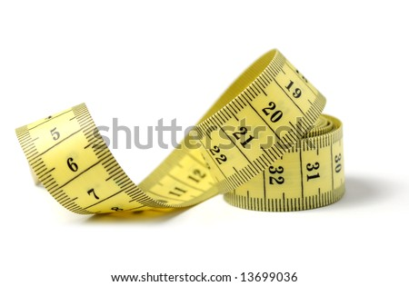Measuring tape of the tailor - stock photo