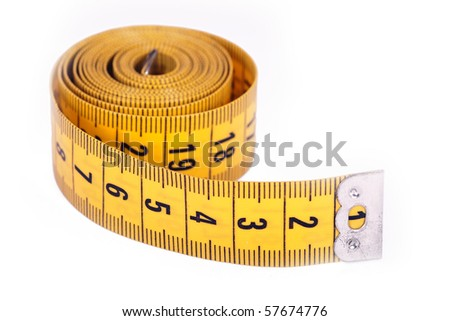Measuring tape roll - stock photo