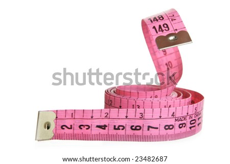 Measuring tape - snake (Abuse of diet over-indulgence  concept) - stock photo