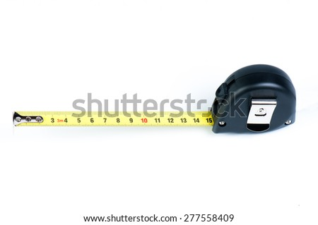 measuring tape with the shown fifteen centimeters