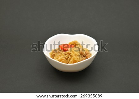 """Meat and potato stew/The dish called """"pork and potatoes"""" - stock photo"""