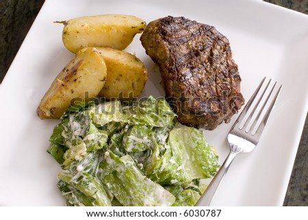 Meat and Potatoes (with Caesar Salad)