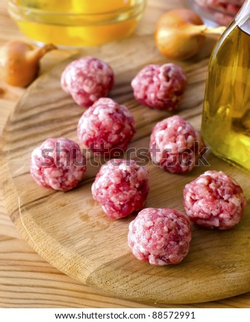 meat balls - stock photo