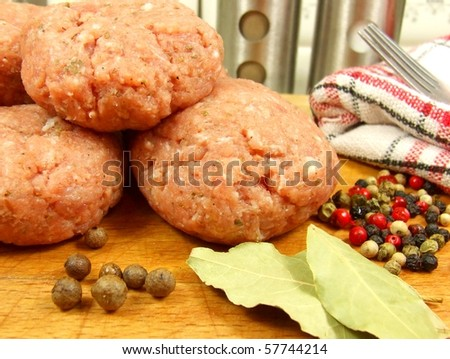 Meat balls ready for cooking