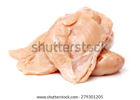 Meat chicken on white background - stock photo