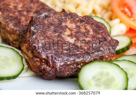 Meat cutlets closeup - stock photo