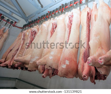 meat factory - stock photo