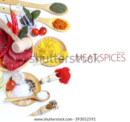 meat food spices