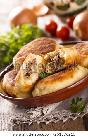 Meat hand pies - stock photo