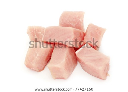 meat isolated on white background - stock photo