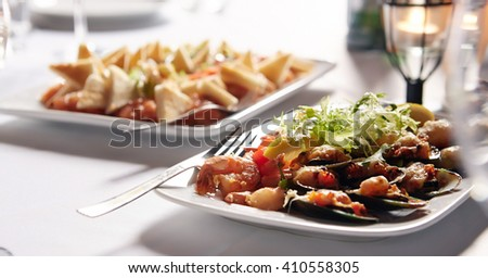 Meat meals on a plate. - stock photo