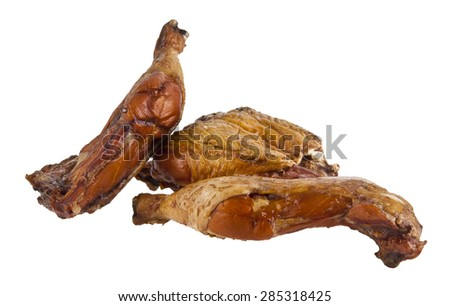 meat of hen isolated on a white background - stock photo