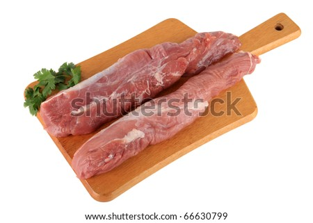 Meat on board - stock photo