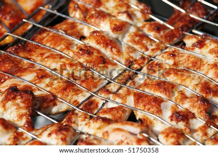 Meat on the grill - stock photo