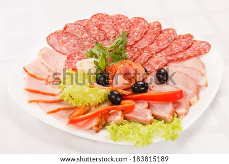 meat on the plate  - stock photo