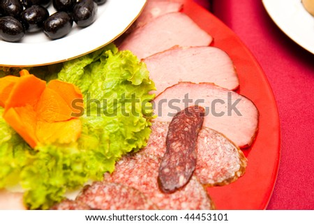 meat on the table - stock photo
