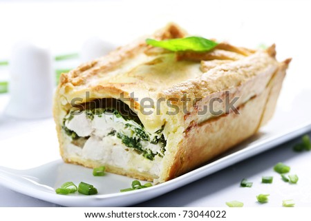 meat pie - stock photo